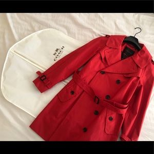 Red Coach Short Trench!